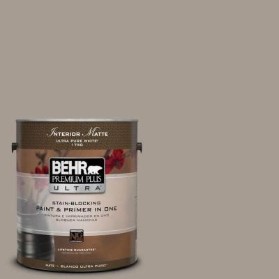 behr premium plus ultra 1 gal n200 4 rustic taupe matte interior paint 175401 the home depot