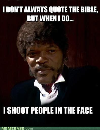 Samuel L Jackson Pulp Fiction Meme - samuel l jackson pulp fiction nuff said the funny