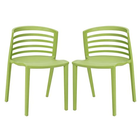 Molded Plastic Dining Chairs Curvy Contemporary Stackable Molded Plastic Dining Chairs Green