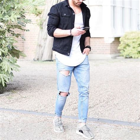 Via Guess Ripped Jacket Light Bahan s fashion instagram page denim jackets style and ripped