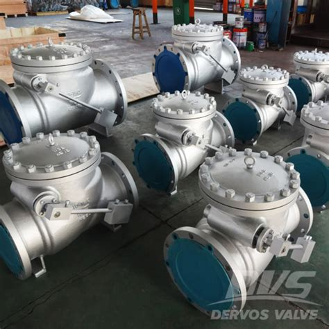 swing cl cylinder swing check valve with cylinder 30 inch cl300 dervos
