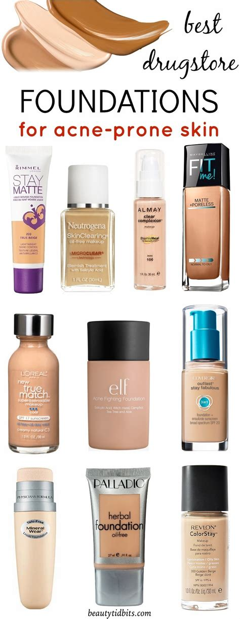 Best Foundation by Best Drugstore Foundations For Acne Prone Skin