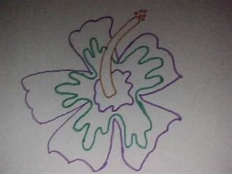 draw simple tropical flower  drawing version