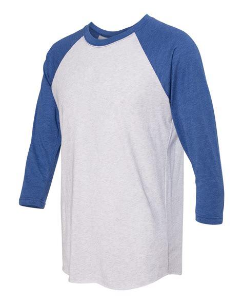 Kaos Raglan 3 4 Cotton Combed 20s Size M 7 Warna next level premium 3 4 sleeve raglan baseball t shirt tri blend plain 6051 ebay