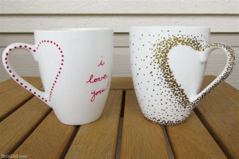 craft projects diy craft project sharpie mug tutorial bren did