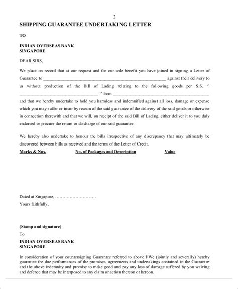 Guarantee Letter For Project guarantee letter