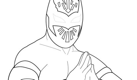 Get This Printable Wwe Coloring Pages Sin Cara 31906 Cara Coloring Pages