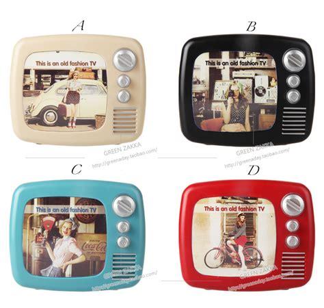 tv bank vintage vintage tv machine plastic piggy bank photo frame coin