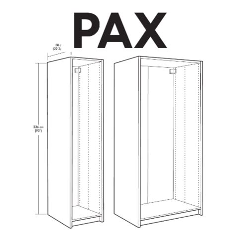 ikea pax wardrobe replacement parts furnitureparts - Ikea Pax Wardrobe Dimensions