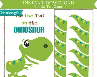 pin the on the dinosaur template 7 best images of printable pin the on the