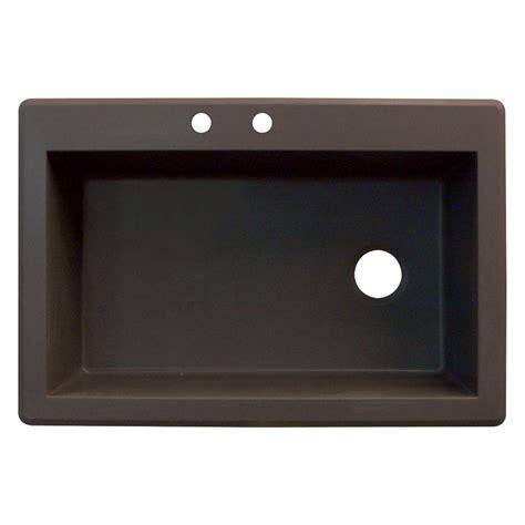 Granite Single Bowl Kitchen Sink Swan Ascend Dual Mount Granite 33 In 1 Single Bowl Kitchen Sink In Espresso Qz03322ad 170