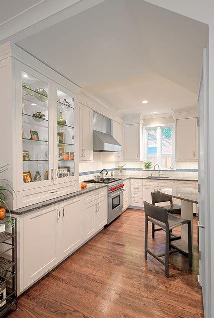 White Kitchen Display Cabinet by White Kitchen W Display Cabinet Transitional Kitchen