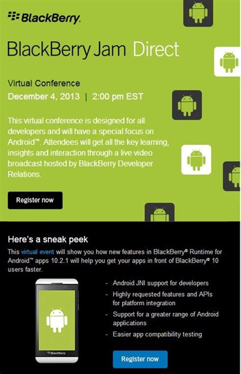 next blackberry jam direct conference will focus
