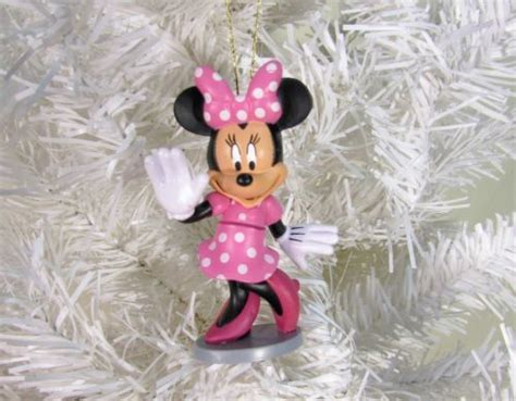 christmas ornaments disney minnie mouse pvc figures custom