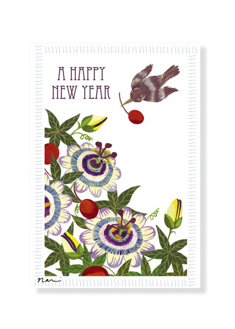 winsch birds new year postcard design shop new year card flowers fruits and a bird pear design