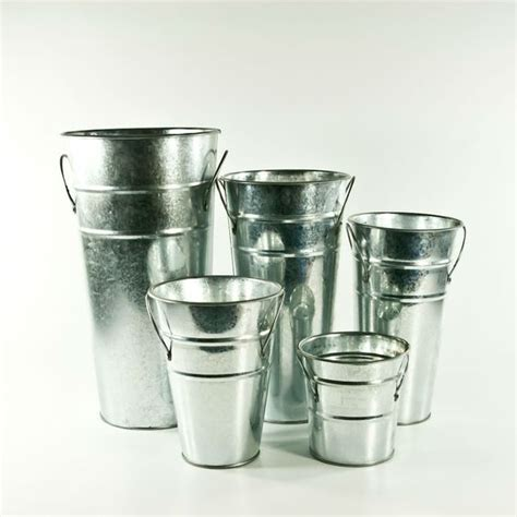 Galvanized Vases Wholesale by Flower Available In A Few Different Sizes 7