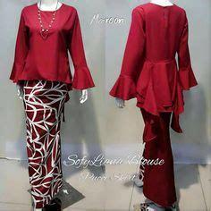 Blouse Batik Dengan Tali Pinggang Bb04 baju kurung cotton warna blue pink baju raya 2016 fesyen trend terkini see