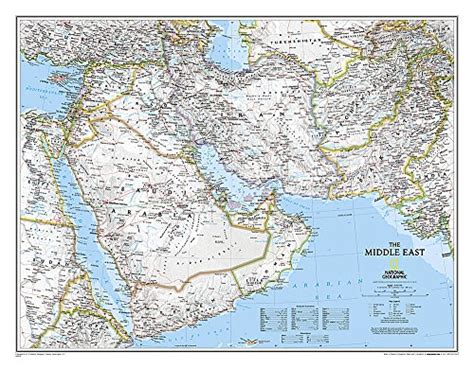 middle east map review the middle east afghanistan and pakistan wall map