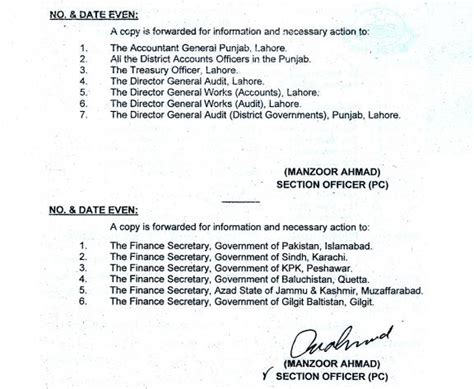 Promotion Notification Letter Govt Of Punjab Notification Regarding Promotion Of Lower Grade Employees In Punjab Pakworkers