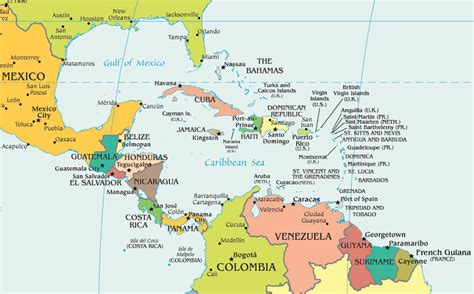 central america the caribbean map american doctor