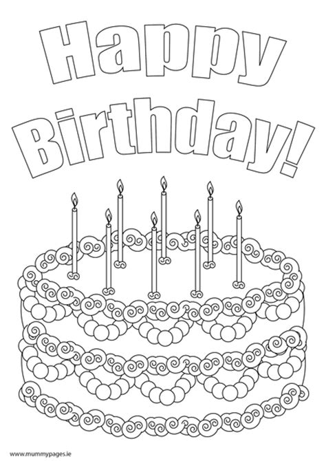 birthday cake coloring pages birthday cake coloring pages