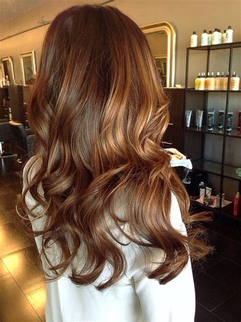 picture of brown hair with caramel highlights