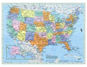 usa united states wall map color poster 22 quot x17 quot large