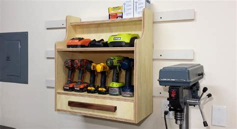 Closet Organizer Systems Wood - cordless drill charging center fixthisbuildthat