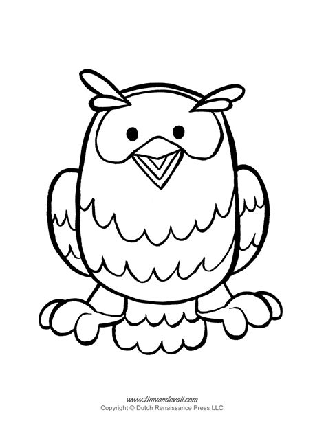 printable owl template free owl template coloring pages