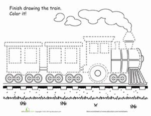 printable version of the little engine that could train tracing worksheet education com
