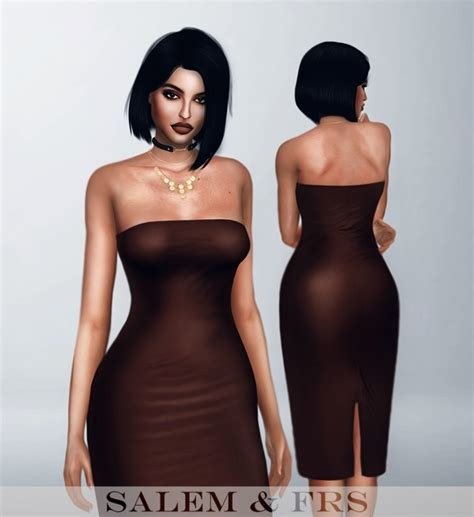 sims 4 royalty dresses bandeau midi dress at fashion royalty sims 187 sims 4 updates