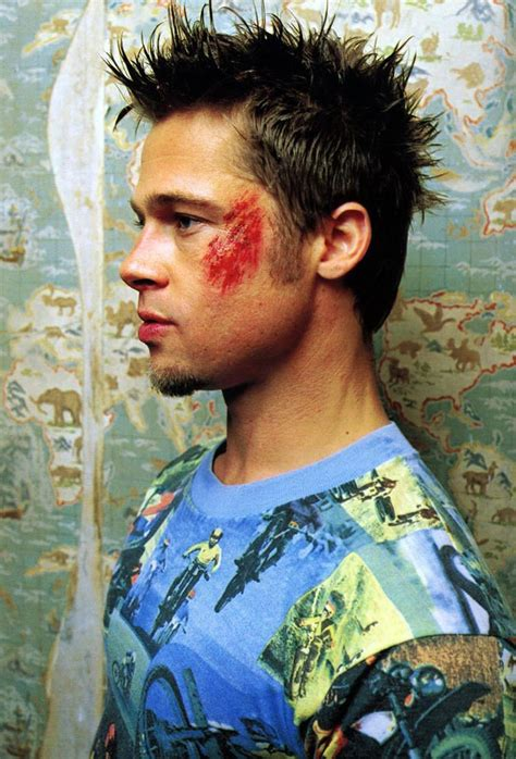 tyler durden hairstyle brad pitt fight club body