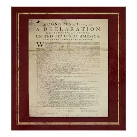 printable declaration of independence declaration of independence poster zazzle