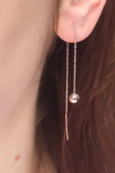 Anting Earring Korea Tassel Geometric Pearl vintage typewriter ear studs posts beige brown earrings jewelry on luulla