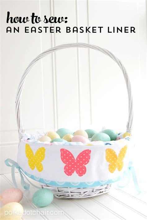 pattern for fabric easter basket liner easter basket liner pattern on polka dot chair sewing blog
