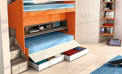 space saving bedroom furniture bed desk combos save space and add interest to small rooms