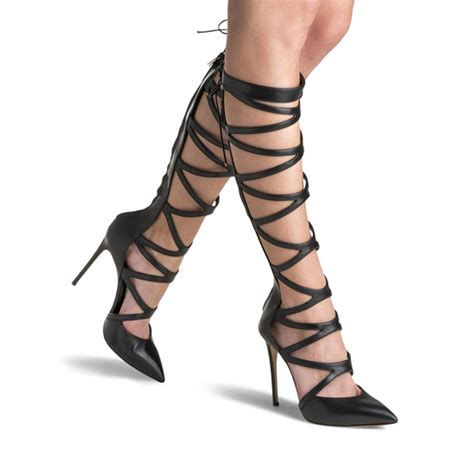 Highheels Gladiator gladiator heels and boots are a comeback for fall