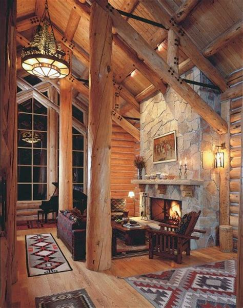 log cabin home interiors cabin decor howstuffworks