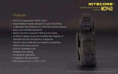 Nitecore Durable Holster Ncp40 nitecore ncp40 durable multifunction holster