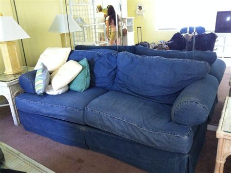 denim couch covers denim sofa slipcover sofa cover thesofa