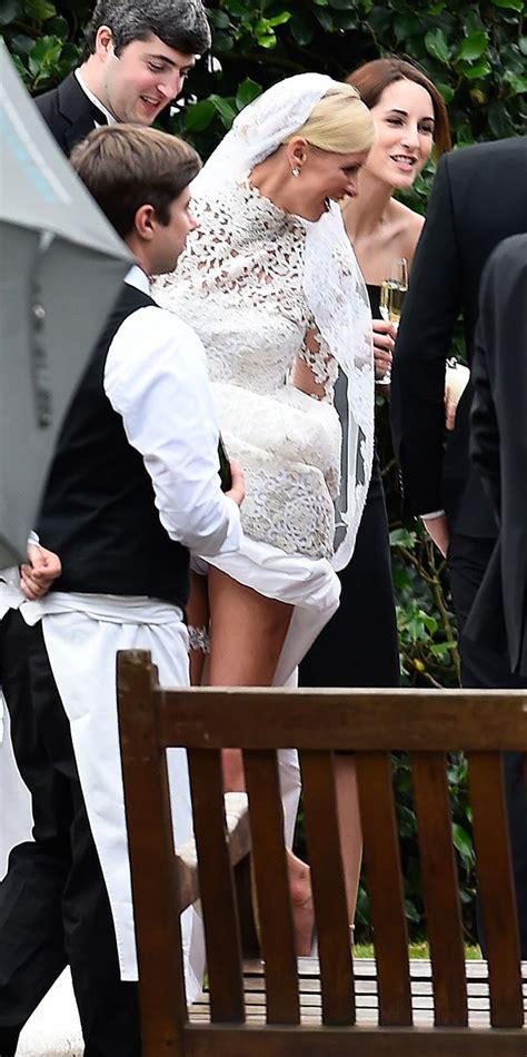 nicky wedding dress photos she flashed