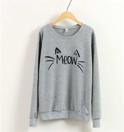 Sweater Meow 2 Wisata Fashion Shop Pullover Sweaters Sweater