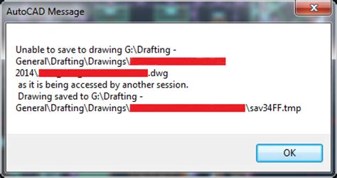 Drawing File Is Write Protected