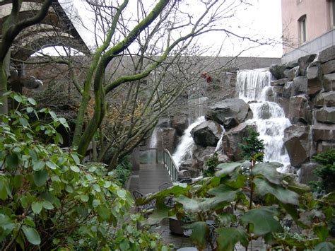 waterfall in backyard waterfalls in the city we ve got that too at ups waterfall garden park on the