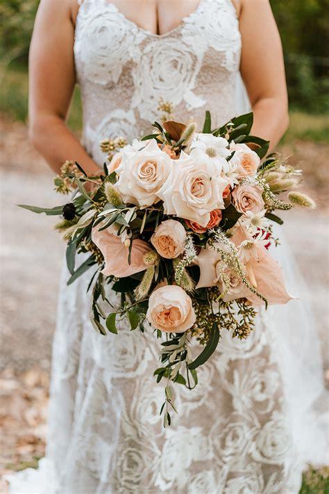 wedding bouquets sunshine coast peonies roses natives