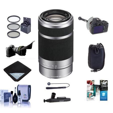 Jual Lensa Sony Nex 55 210mm sony 55 210mm f 4 5 6 3 oss e mount nex lens silver black