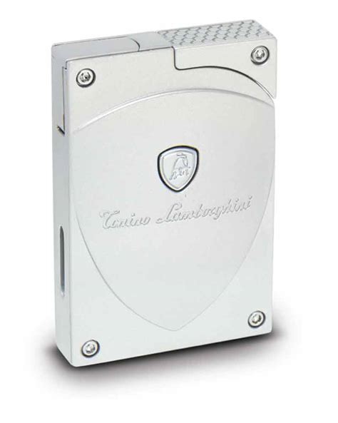 Lamborghini Tonino White Silver tonino lamborghini lynx butane refillable cigar lighter