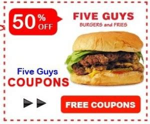 5 Guys Gift Card - pizza king online coupons mega deals and coupons