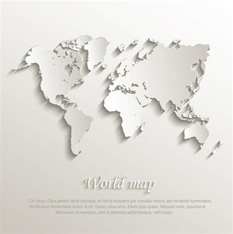design free map paper world map creative design vector free vector in