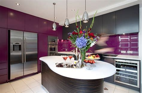 purple cabinets kitchen kitchen with purple cabinets and backsplash decoist